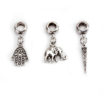 Mix and Mingle Metal Bracelet Charms - Boho Theme