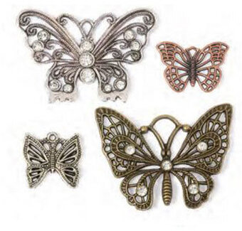 Steampunk  Jewelry Charms - Butterflies