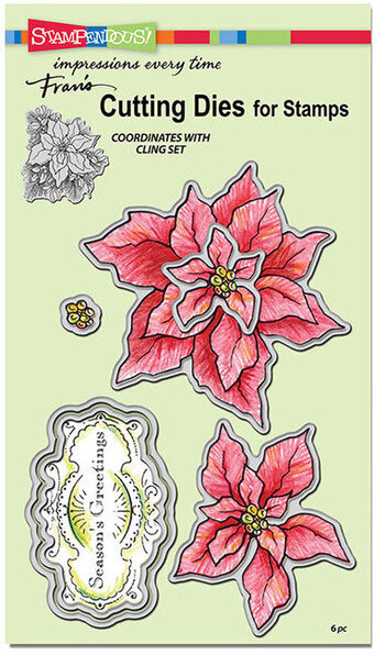 Create A Poinsettia Die Cut Set