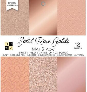 Solid Rose Golds DCWV Cardstock Stack 6x6