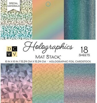 Holographics DCWV Cardstock Mat Stack 6x6