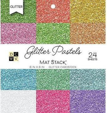 Glitter Pastels DCWV Cardstock Stack 6x6