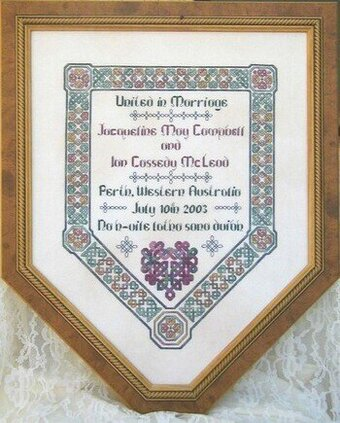 Janlynn Forever Love Wedding Sampler Counted Cross Stitch Kit