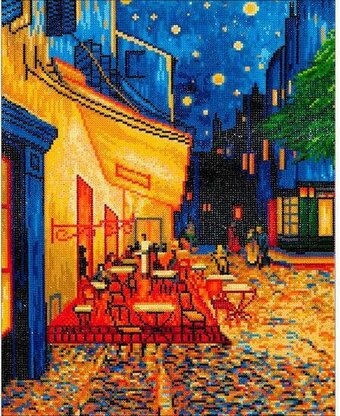 Cafe At Night Van Gogh - Diamond Embroidery Facet Art Kit