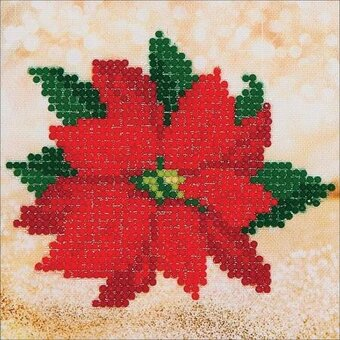 Poinsettia Christmas - Diamond Embroidery Facet Art Kit