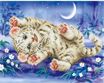 Baby Tiger Roly Poly - Diamond Embroidery Facet Art Kit