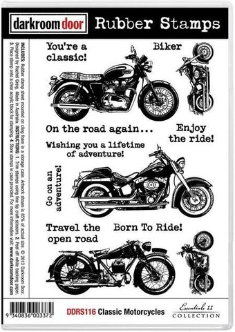 Classic Motorcycles - Cling Rubber Stamp