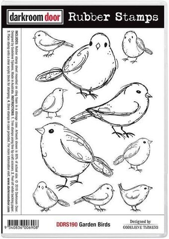 Garden Birds - Cling Rubber Stamp