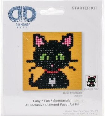 Green Eye Sparkle Cat - Diamond Dotz Facet Art Kit
