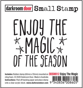 Enjoy The Magic - Small Christmas Cling Stamp