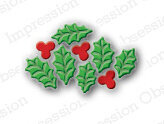Impression Obsession Holly Leaf Cluster Christmas Die