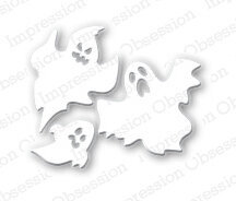 Impression Obsession Ghosts Halloween Die