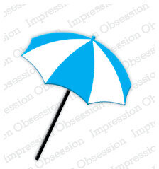 Beach Umbrella - Impression Obsession Craft Die