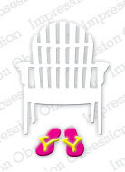 Single Beach Chair - Impression Obsession Craft Die