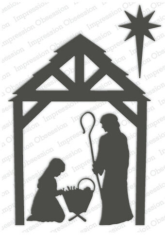 Manger Christmas Nativity - Impression Obsession Craft Die