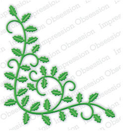 Holly Flourish Christmas - Impression Obsession Craft Die