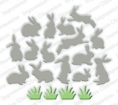 Impression Obsession Mini Bunnies Die