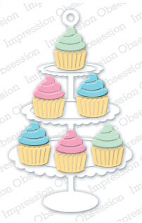 Impression Obsession Cupcake Stand Die