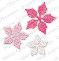 Impression Obsession Small Poinsettia Die Set