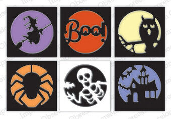 Impression Obsession Halloween Cutout Circles Die