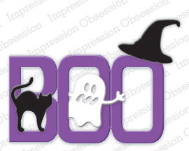Impression Obsession Boo Halloween Die