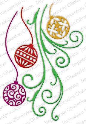 Impression Obsession Ornament Flourish Christmas Die