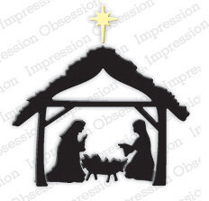 Impression Obsession Small Manger Christmas Die