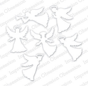 Impression Obsession Small Angel Christmas Die Set