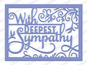 Impression Obsession Deepest Sympathy Block Die