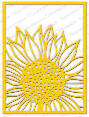 Impression Obsession Sunflower Background Die