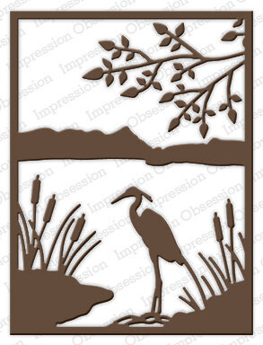 Heron and Lake - Impression Obsession Craft Die