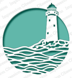 Impression Obsession Lighthouse Circle Die