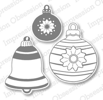 Impression Obsession Vintage Christmas Ornaments Die