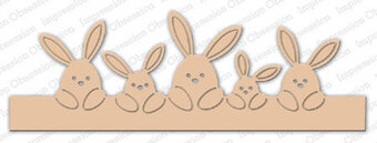Impression Obsession Bunny Border Die