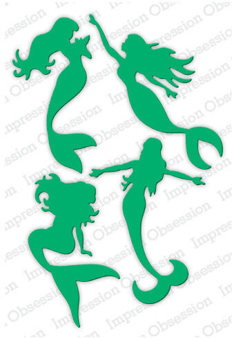 Mermaids - Impression Obsession Craft Die