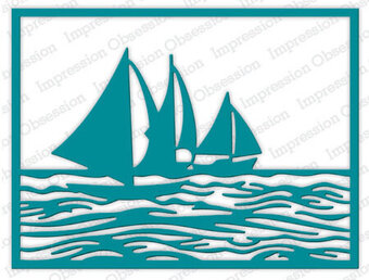 Impression Obsession Sailboat Frame Die