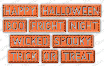 Halloween Stitched Words - Impression Obsession Craft Die