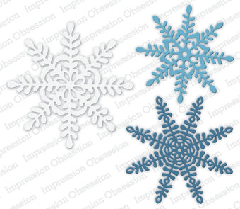 Primitive Snowflakes - Impression Obsession Craft Die