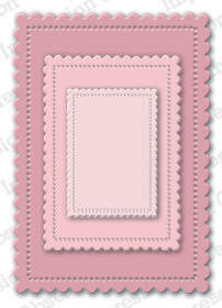 Cute Scalloped Rectangles - Craft Die