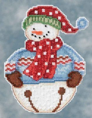 Jingle Snowbells (Debbie Mumm) - Beaded Cross Stitch Kit