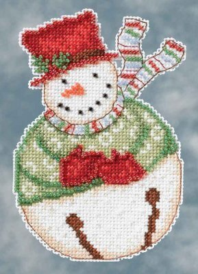Jangle Snowbells (Debbie Mumm) - Beaded Cross Stitch Kit
