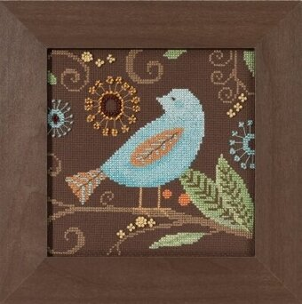 Aqua Bird - Out on a Limb - Beaded Cross Stitch Kit