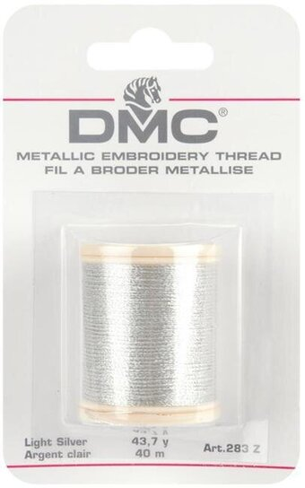 DMC Metallic Light Silver Thread 283Z