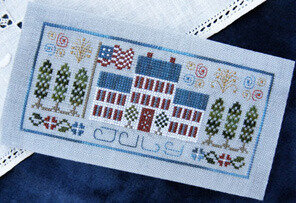 Pocket Calendar Cover - July - Cross Stitch Pattern