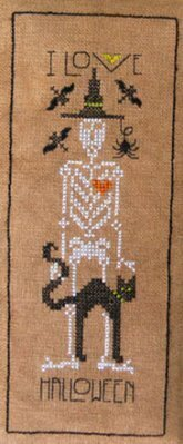 I Love Halloween - Cross Stitch Pattern