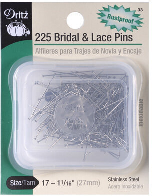 Bridal and Lace Pins - Size 17- 225 Per
