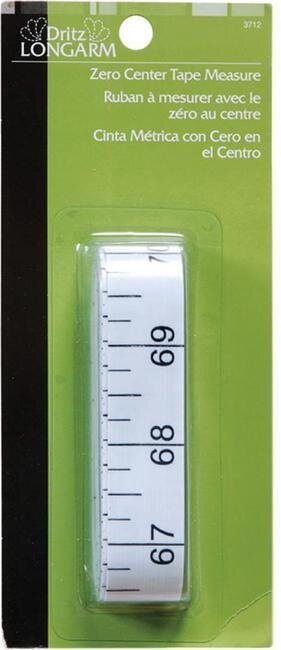 Dritz Longarm Zero Center Tape Measure