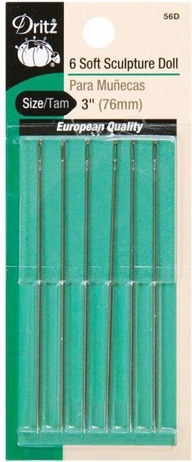 Dritz Soft Sculpture Doll Needles Size 3""