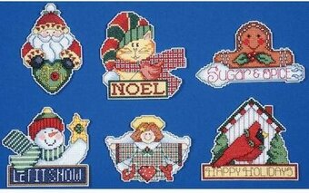 Signs of Christmas Ornaments - Cross Stitch Kit