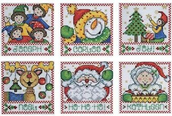 Holiday Tags - Christmas Cross Stitch Kit